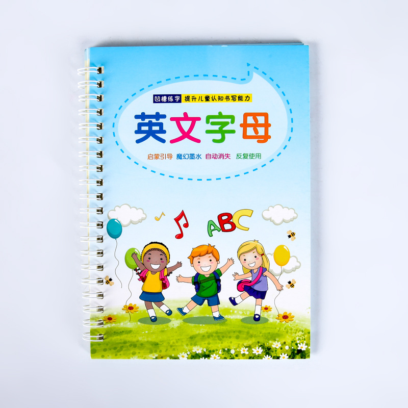 1pcs English Alphabet ABC Character Groove Calligraphy Copybook For Kids Children Exercises Calligraphy Practice Book Libros