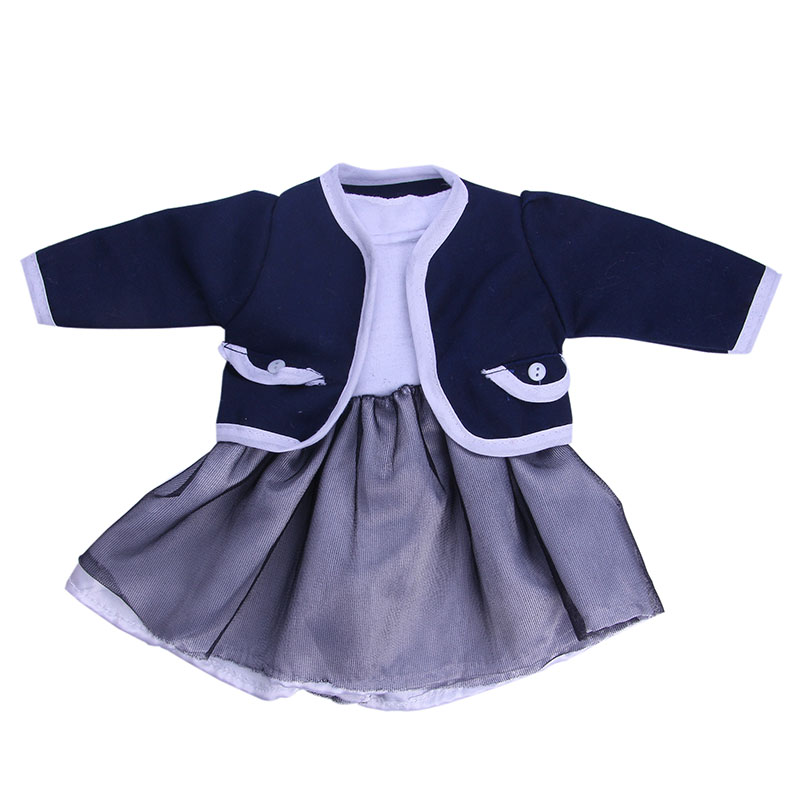 Coat + dress for 18 inch american girl doll zapf baby born holiday clothes and dress suit set