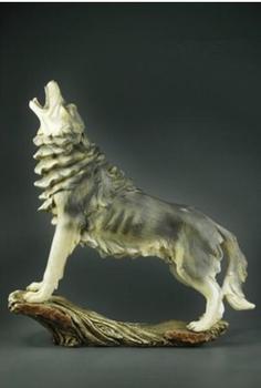 Lion Watch dog pet Wolf handicraft household decoration imitation wood Tiger lays resin handicraft have money tatue sculpture