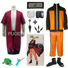 Hot Naruto Uzumaki Konoha The Seventh Hokage Cosplay Costume Halloween Full Set