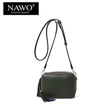 NAWO New fashion Tessal Crossbody Bag For Women Famous Designal Messenger Female Bag Mini High Qulithy Double Zipper Ladies Bag
