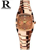 Women Watch Elegant Brand Famous Luxury Rose Gold Quartz Watches Ladies Tungsten Steel Waterproof Wristwatches Relogio