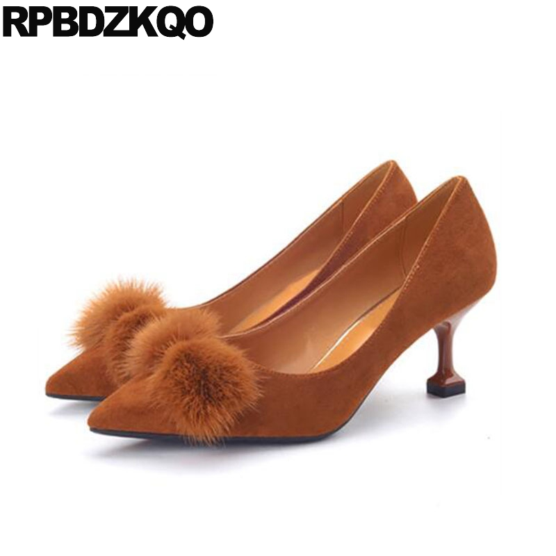 fur size 33 2018 ladies mid heels shoes suede 4 34 footwear pointed toe big fashion cheap brown 10 42 kitten 11 43 designerfur size 33 2018 ladies mid heels shoes suede 4 34 footwear pointed toe big fashion cheap brown 10 42 kitten 11 43 designer
