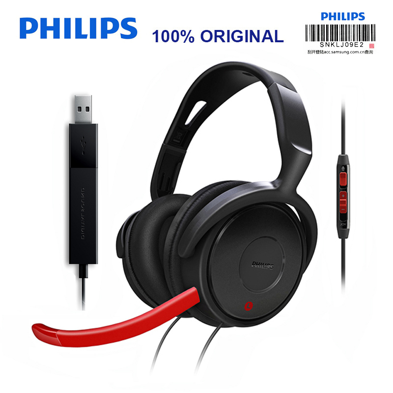 все цены на Original Philips SHG7980 Noise Reduction for Video Chat Wire Control 3.5mm Plug Microphone Wired Earphone Official Verification