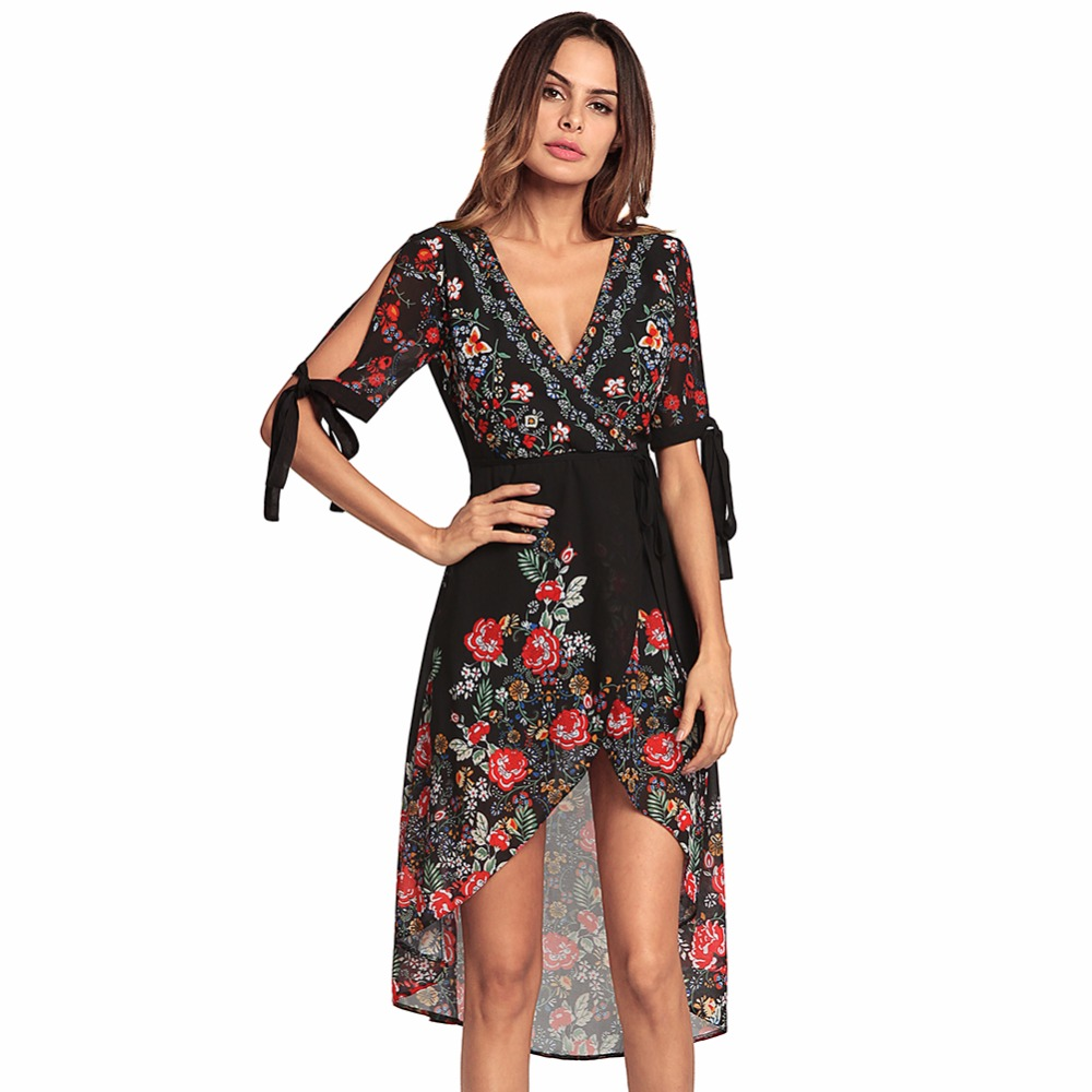 5dcc441da409 Vestidos Summer Women Chiffon Beach Dresses Women Sexy Summer Dress 2018  Women Bohemian Dress Beach Chiffon Summer Dress-in Dresses from Women s  Clothing ...