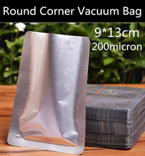 Wholesale 300pcs 9x13cm (3.5'' * 5.1'') 200micron High Quality 3 Sides Vacuum Foil Bag Fresh Food Storage Bag