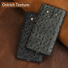 wangcangli Genuine Leather Phone Case For HUAWEI Mate 9 10 Pro Ostrich Texture Back Cover Huawei P10 P20 Nova 2S Plus Cases