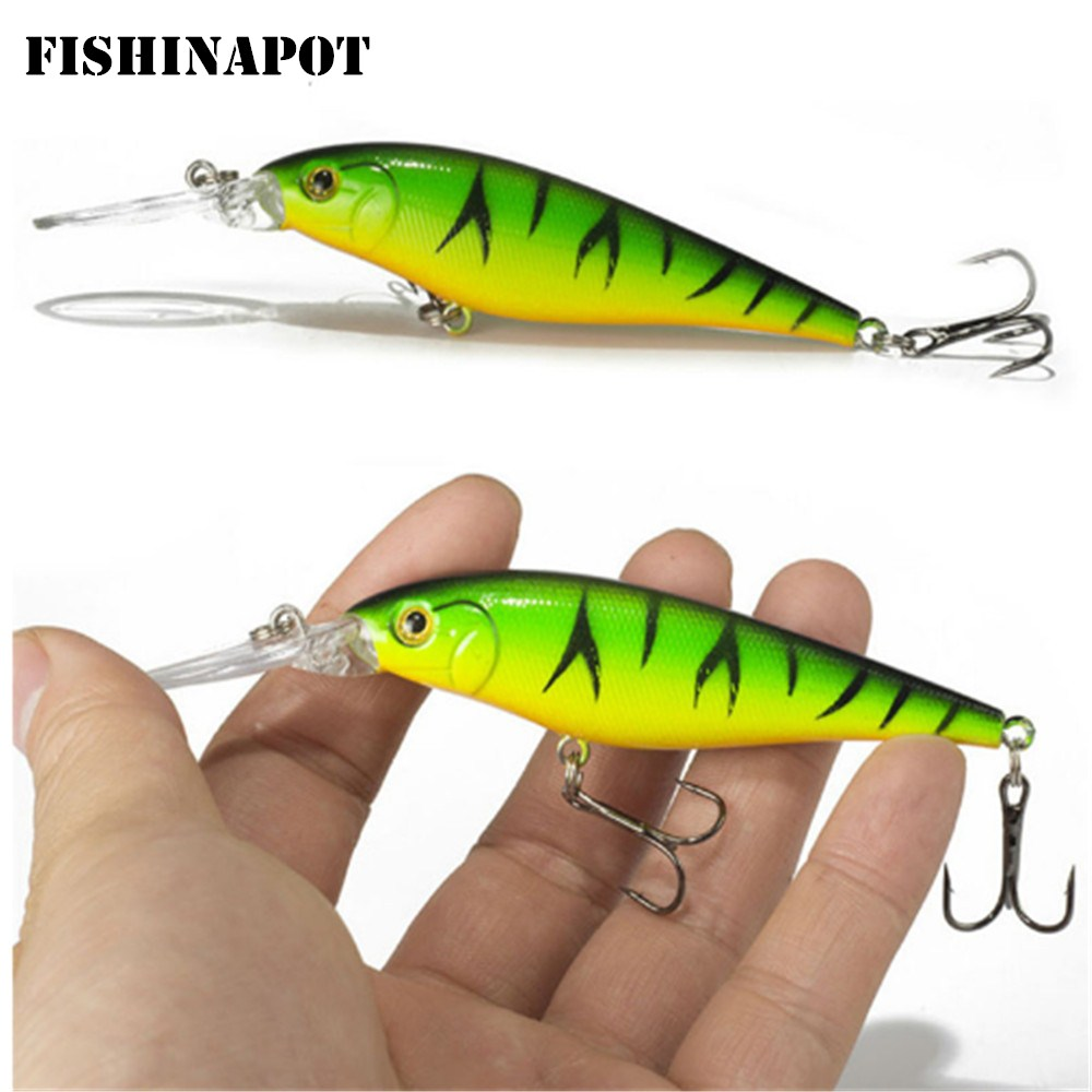 FISHINAPOT 1Pcs Sinking Minnow Fishing Lures 10g/11cm Isca Artificial Hard Bait With High-carbon Steel Hooks Crankbaits Wobblers