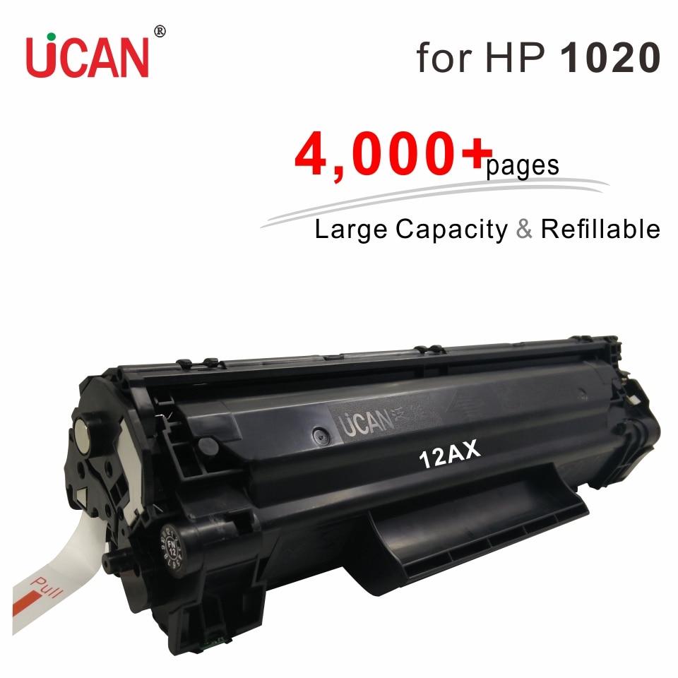 Compatible Hp Laserjet 1010 1012 1015 1018 1020 Printer 12a Q2612a UCAN 4000 pages Large Capacity Refillable Toner Cartridges