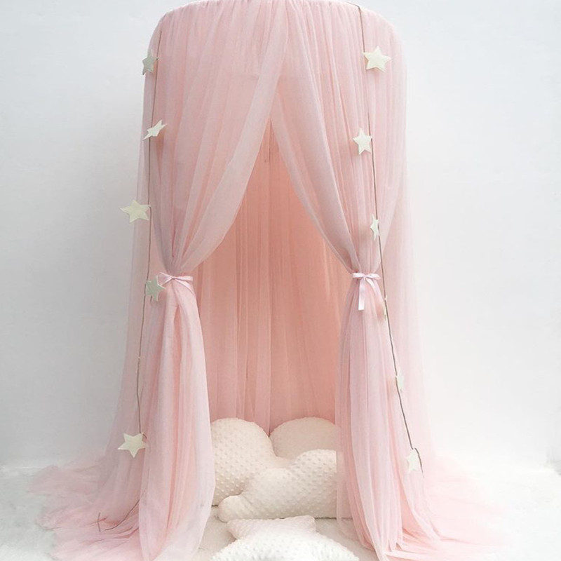 Childrens room dome princess dream bed curtain children room a undertakes nets game house decoration net yarn ...