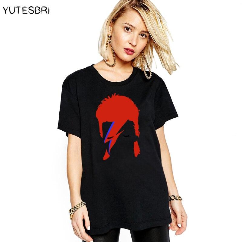 Buy women hip hop t shirt 2016 rock bowie for Good t shirts brands