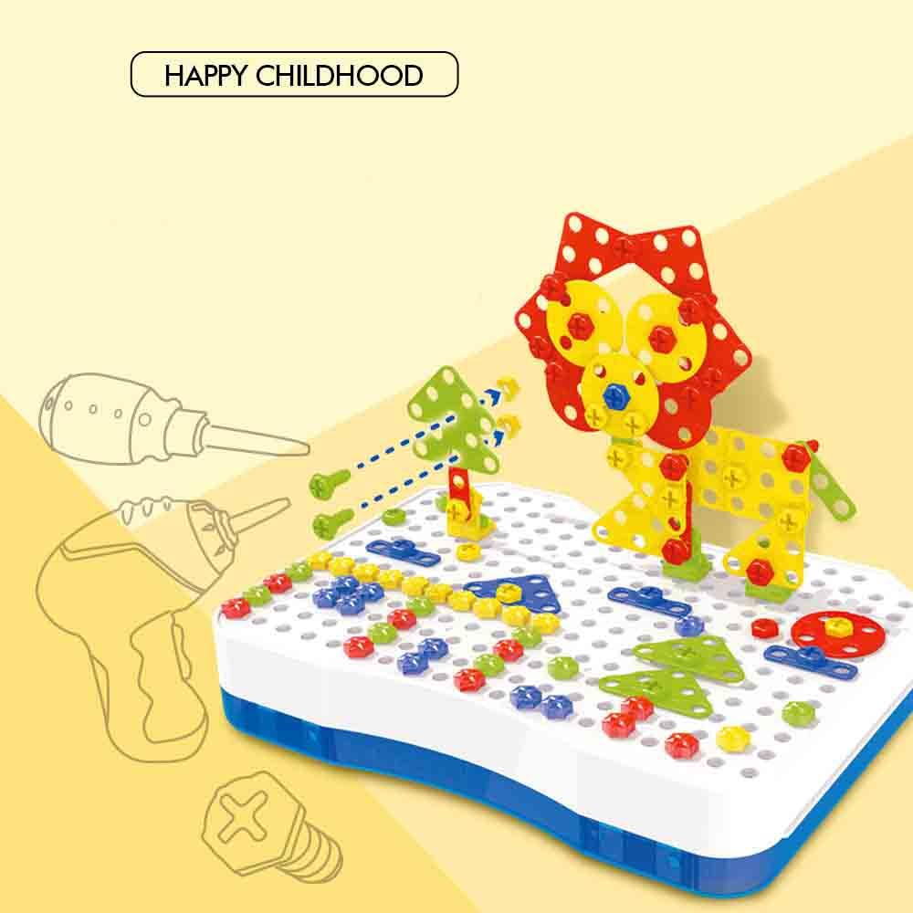Jouets pour enfants perceuse électrique écrou démontage Match outil jouets éducatifs blocs assemblés ensembles jouets pour garçons conception jouet de construction