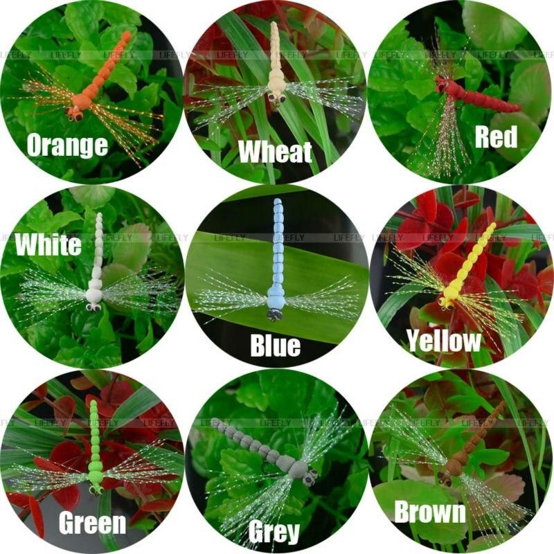 9 Dragonfly Flies 9 Colors Dry Foam Body Size 10 Fly Fishing In