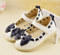 2016 Spring Princess Kids Shoes Girls Shoes Korean Style Cute Bowknot Soft Sole Flat PU Leather Children Shoes Girls Dress Shoes