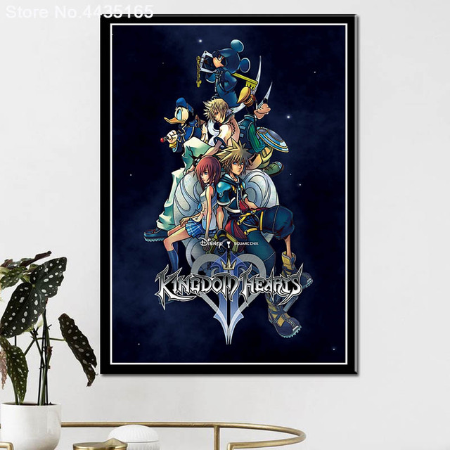 Posters and Prints Kingdom Hearts Game Art Poster wall art Picture Canvas Painting for Modern Living Room Home Decoration 1