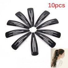 10 шт./лот высококачественные женские головные уборы однотонные черные большие заколки для волос аксессуары для волос