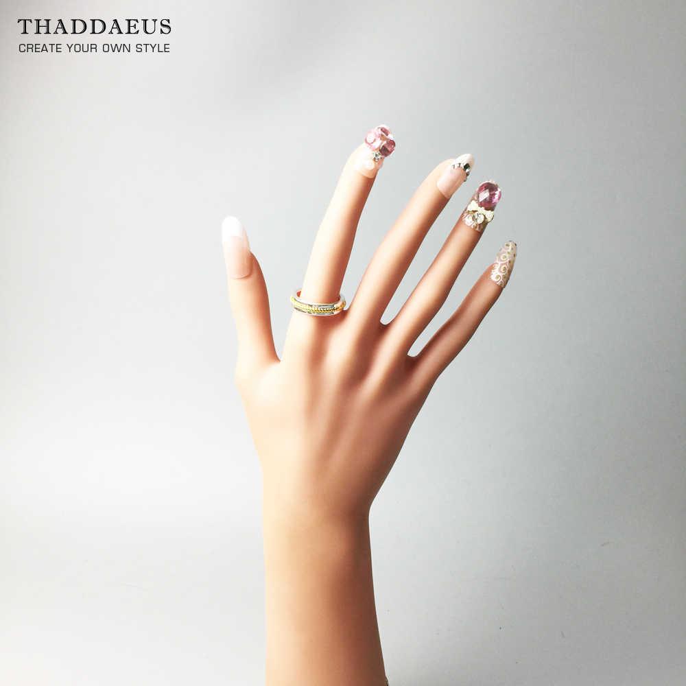 แหวนทองสีเชือก, Thomas สไตล์ Soul เครื่องประดับดีเครื่องประดับสำหรับผู้ชายผู้หญิง, 2017 Ts ของขวัญ 925 เงินสเตอร์ลิง