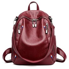 2019 New High Quality PU Leather Women Backpack Casual Covertible Shoulder Bags Fashion Backpacks Female School Bag Teenager 2017 new nucelle brand design fashion light embroidery pearls high quality pu leather casual lady women backpacks school bag