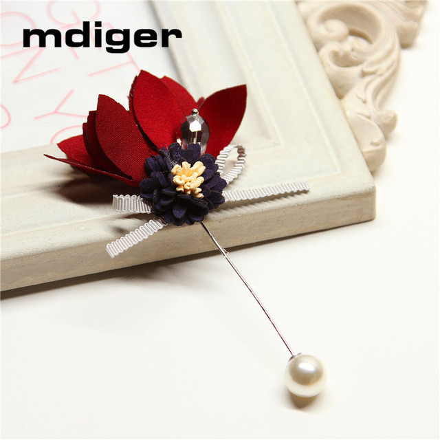 Mdiger Мужские аксессуары ювелирные изделия с лацканами цветок брошь бутоньерки, изготовленные вручную палочки-броши шпильки для женщин Свадебная вечеринка