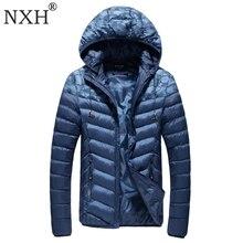 NXH 2017 Winter Men's jackets Hat Detachable Male Warm coats Windproof outer wear  Zipper inner bag Hooded camouflag