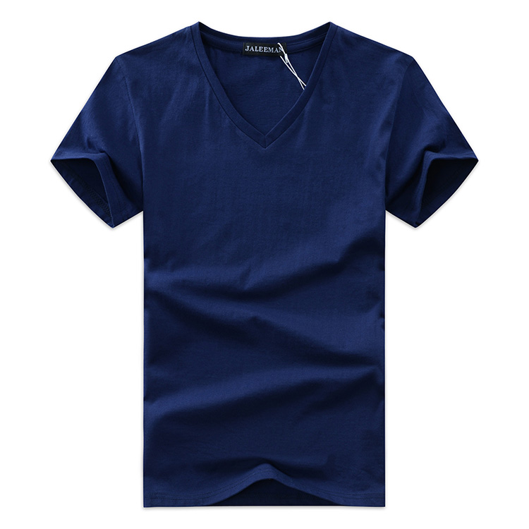 2018 summer Hot selling Men V neck   t     shirt   cotton short sleeve tops high quality Casual Men Slim Fit Classic Brand   t     shirts