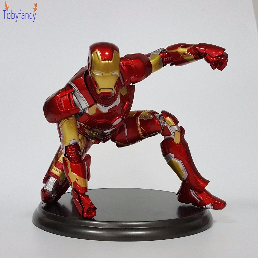 Iron Man Action Figure MK43 Ironman PVC 240mm Collectible Model Toy Anime Iron Man Mark 43 Superhero Tony Stark superhero ironman mark xlv limited edition iron man action figure pvc doll anime collectible model toy 25cm