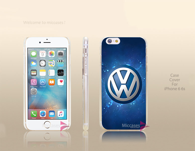 For volkswagen Blue logo VW Hard Transparent Clear Case Cover for apple iphone 4 4s 5 5s 5c se 6 6s plus
