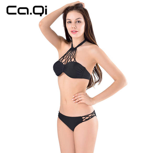 f2479910b3 placeholder Women Sexy Bikini Suit Summer Mesh Gather Explicit Chest Ms. Split  Swimsuit Beach Bathing Suit