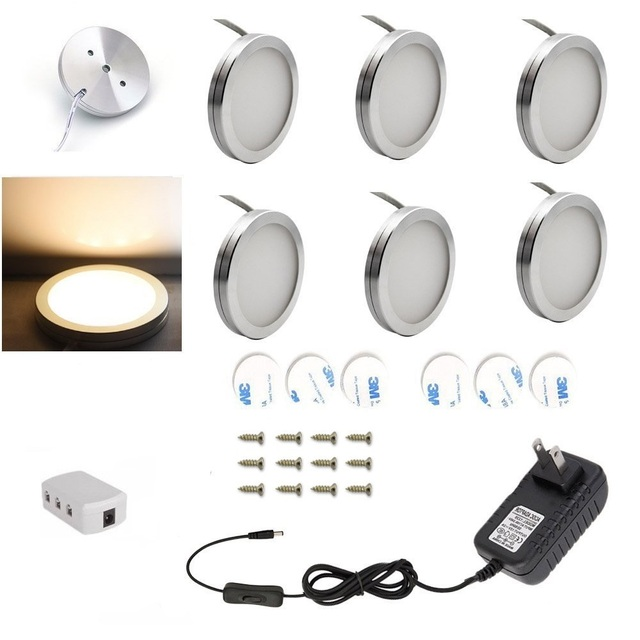 4/6/8PCS LED Under Cabinet Light 12V 2.5W Kitchen lights bar lamp with Switch Home wardrobe Lamp Showcase Lamps Decoration