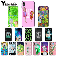 Yinuoda Cartoon Comic Meme Rick And Morty DIY Luxury High-end Protector Case for iPhone X XS MAX 6 6S 7 7plus 8 8Plus 5 5S XR
