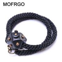 MOFRGO Original Design Ebony Weaving Bracelet Bangles For Men And Women Copper Nail Fashion Personality Lucky Beaded Bracelet