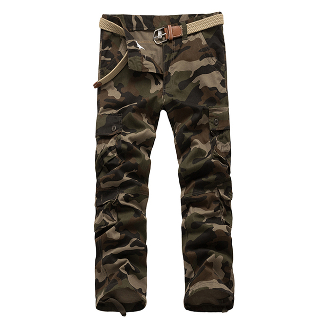 FLEXO MULTI-POCKET CAMOUFLAGE CARGO PANTS