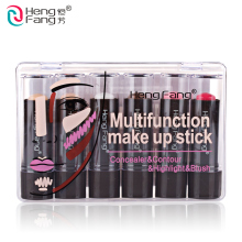 6Pcs/Set Concealer Blush Highlight Contour Multifunction make up stick 3.5gx6 Makeup Brand HengFang #H8458