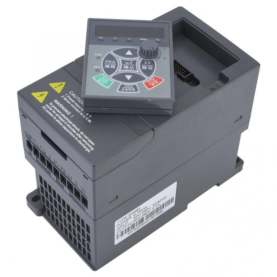 Image 2 - VFD Inverter 380V 0.75KW 3 Phase Input 3 Phase Output VFD Variable Frequency Drive Converter Inverter Variable Frequency-in Inverters & Converters from Home Improvement