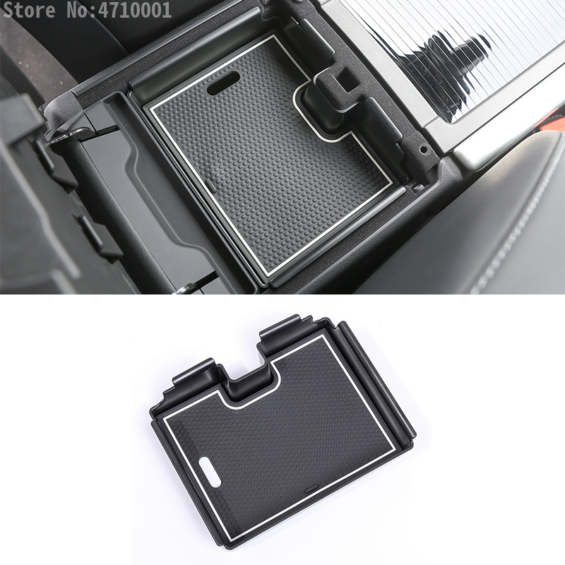 Central Armrest Storage Box Car Organizer Container Tray accessories fit Land Range Rover Evoque 2012-2016 ABS Plastic