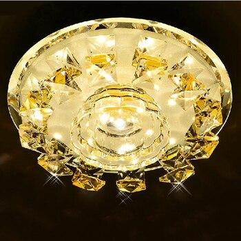 12 W Neue authentische led ganglichter lec dekoration kristall decke licht veranda luxus unten licht