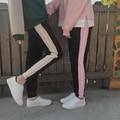 Chic 9 new arrival lovers HARAJUKU bf pencil pants england patchwork side stripe skinny trousers pantalon unisex girl sweatpants