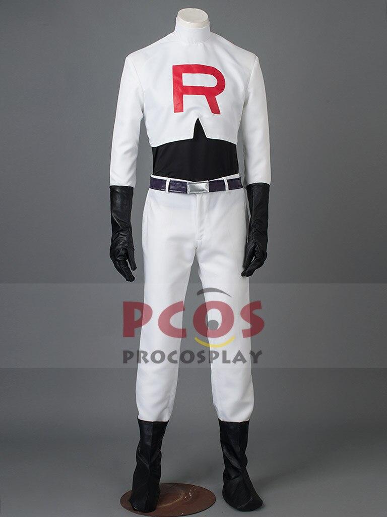 Pocket Monster / Pokemon Team Rocket James Cosplay Costume mp002222
