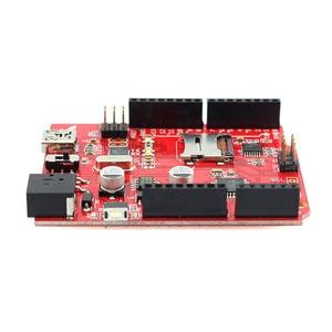 Image 3 - Placa do microcontrolador de elecrow crowduino uno sd v1.5 para arduino uno atmega328p com mini cabo usb sd microcontrolador