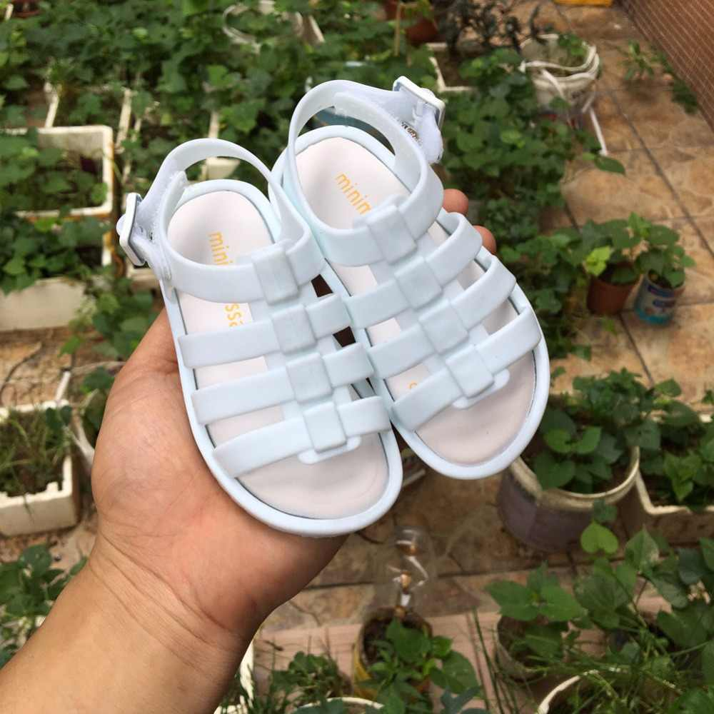 1c5af6d8ad574 Mini Melissa 2019 Mini Children Jelly Shoes Roman Girls Boys Sandals Hollow  Baby Shoes Non-