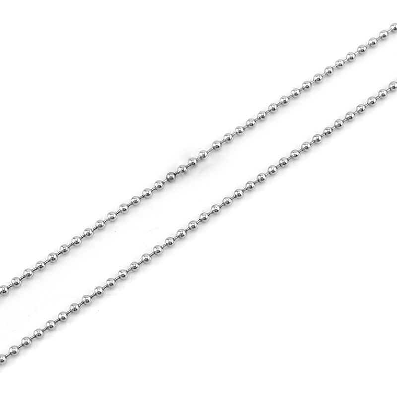 2.4/3/4mm Beads Chain Necklace Stainless Steel Ball Chain Men Women for DIY Jewelry Making Sell in 10 Meter Wholesale