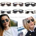 Men Women Cat Eye Mirror Vintage Christian Designer Oversized Glasses Sunglasses