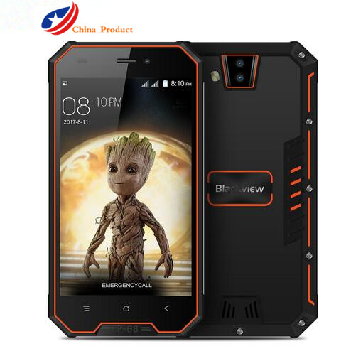 "Blackview BV4000 IP68 Waterproof Smartphone 8MP Dual Rear Cameras 4.7"" IPS HD Android 7.0 Quad Core 1GB+8GB 3680mAh Mobile Phone"