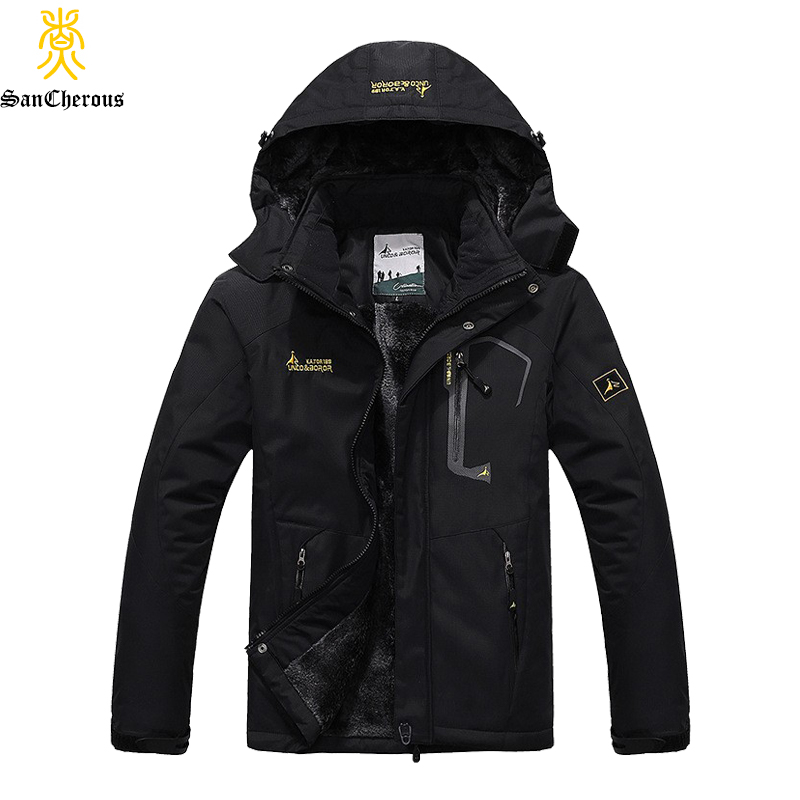 2019 Large Size 9 Colors Warm Outwear Winter Jacket Men Windproof Hood Men Jacket Warm Men Parkas Size L-6XL(China)
