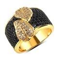 Cubic Zirconia anillo gran lujo hoja grande estilo niza Pave anillos de ajuste de calidad AAA rica boda joyería nupcial