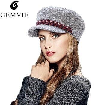 8e47bc4e7508e Estilo británico mujeres gorra de boina azul marino de dama elegante Retro  de Color sólido vendedor gorras sombrero militar