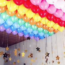 10pcs Latex Balloons 10 Inch Latex Helium Balloons Inflatable Wedding Decorations Air Balls Happy Birthday Party Balloons Set(China)
