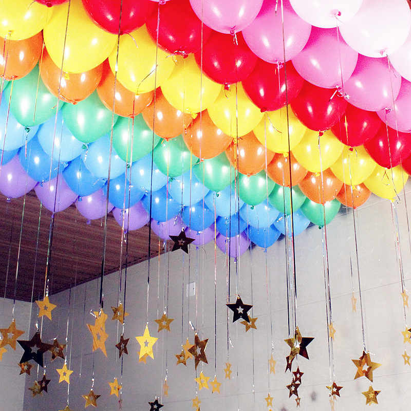 10pcs Latex Balloons 10 Inch Latex Helium Balloons Inflatable Wedding Decorations Air Balls Happy Birthday Party Balloons Set