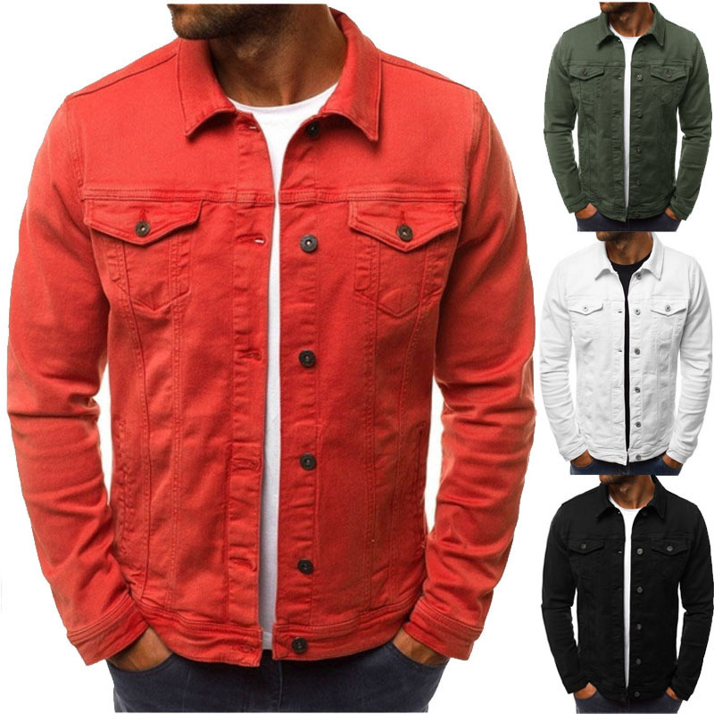 2019 Men's Jacket Casual Overalls Jacket Jacket Coats Man Buttons