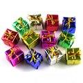 12 PCs Feliz Presentes Moda Decoração Da Árvore de Natal Enfeites de decoração Para Casa Decoração de Alta Qualidade Da Espuma
